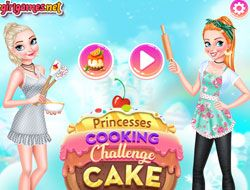 Princesses Cooking Challenge Cake