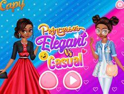 Princesses Elegant vs Casual