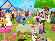 Princesses Outdoor Party Cleaning