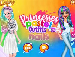 Princesses Pastel Outfits And Nails