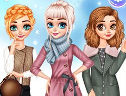 Princesses Warm Winter Outfits