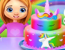Rainbow Unicorn Cake Cooking