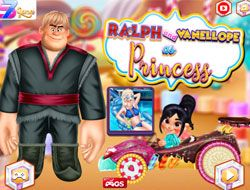 Ralph And Vanellope As Princess