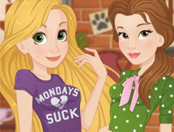 Rapunzel And Belle Love Crush
