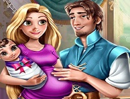 Rapunzel and Flynn Happy Family