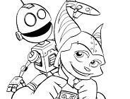 Ratchet and Clank Coloring