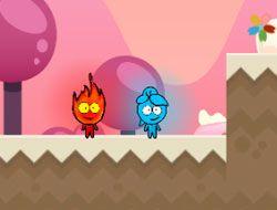 Red Boy Blue Girl Candy World