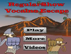 Regular Show Volcano Escape