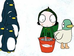 Sarah and Duck Feeding Time