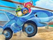 Shark Car Race to the Ferry