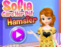 Sofia Care Her Pet Hamster