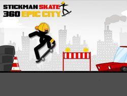 Stickman Skate 360 Epic City