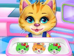 Sweet Rainbow Kitty Cookies