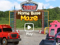 Terrific Trucks Home Base Maze