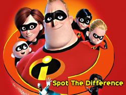 The Incredibles Spot the Difference