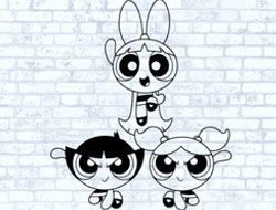 The Powerpuff Girls Colour In