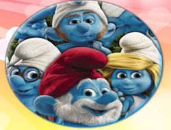 The Smurfs 3D Round Puzzle