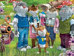 Tip the Mouse Family Puzzle