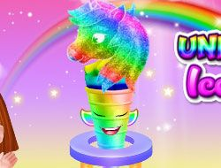 Unicorn Rainbow Ice Cream Cone Cooking