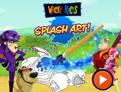 Wacky Races Spash Art