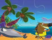 Zig and Sharko Beach Day Puzzle