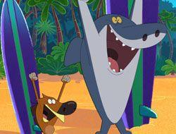 Zig and Sharko Surfing
